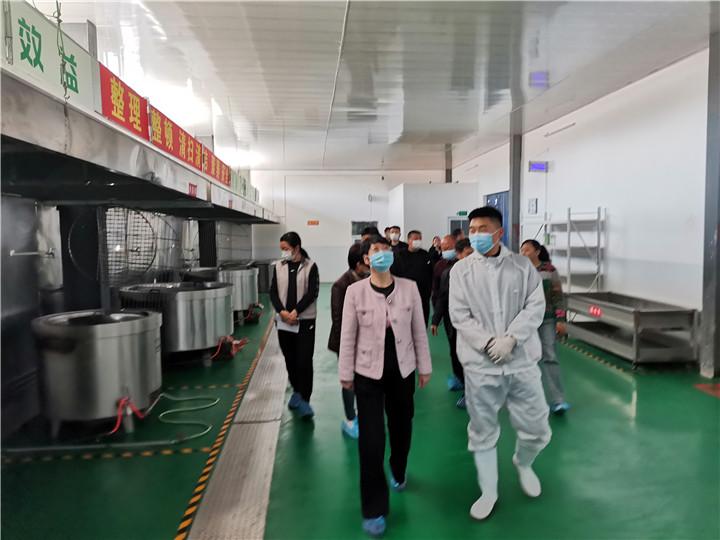 10月24日虞城县市场监管局赵书记带队莅临公司参观指导